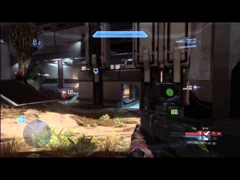Halo 4 Multiplayer Tips and Tricks : Capture the Flag CTF Gameplay Commentary