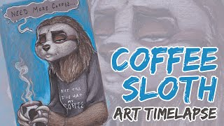 Timelapse Art   Coffee Sloth