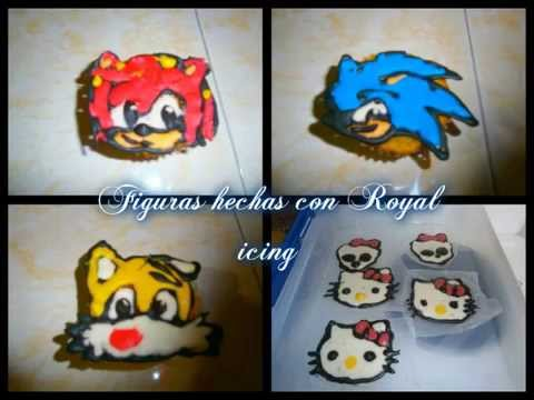 Como hacer figuras en Royal Icing.How to make royal icing figures