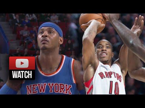 DeMar DeRozan vs Carmelo Anthony Full Duel Highlights Raptors vs Knicks (2014.10.24) - SICK!