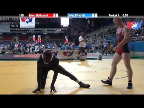 Fargo 2012 145 Round 2: Tyler McDonald (Texas) vs. Colby Winnett (Oregon)