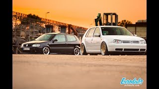 "VW Golf MK4 on Schmidt 18"" and VW Polo 6N2 on BBS RF driving through Belgrade"
