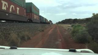Interstate Freight Train In Western Australia.