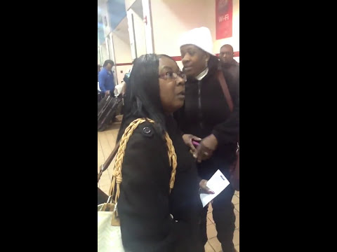 Black Woman Goes Off On White Couple For Cutting In Line At Greyhound Bus Station