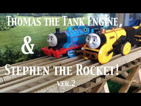 Thomas and Friends Trackmaster Village Stephen the Rocket with Thomas the Tank Engine!