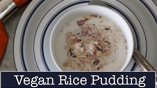 Recipe for Rice Pudding - Vegan Rice Pudding -- The Frugal Chef