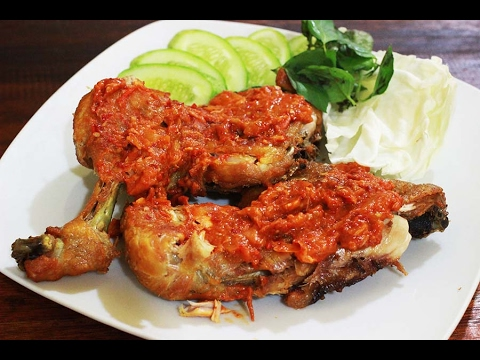 This is the recipe for Chicken Penyet Like the Restaurant