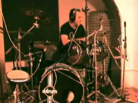 John Macaluso recording song in MusicArt studio (Genova/Italy) with Pier Gonella