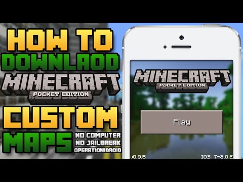 MCPE: How To Get Maps for Minecraft Pocket Edition! (NO COMPUTER) (NO JAILBREAK)
