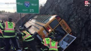 Video: School bus crash on Rt. 128