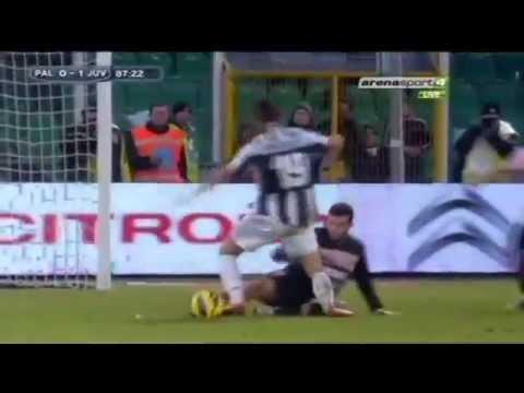 Leonardo Bonucci immersione contro il Palermo _ Palermo 0-1 Juventus