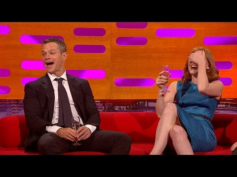 Matt Damon's ponytail - The Graham Norton Show: Series 18 Episode 1 - BBC One