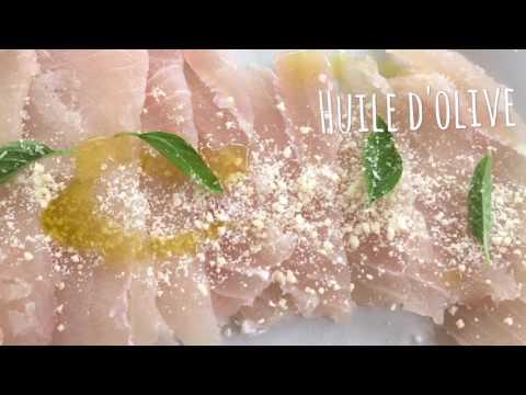 Les recettes antillaises revisitées : Carpaccio de Marlin
