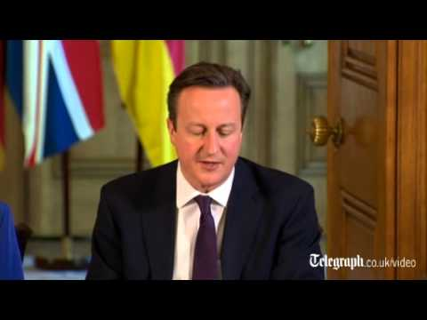 David Cameron remarks on Ukraine during press conference with Angela Merkel