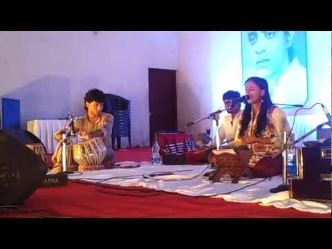 "Sithara sings Gazal ""baske dushwar"" in connection with the padmaprabha award ceremony at wynadu"