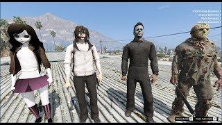 GTA 5 Mod - Jeff The killer Chiến Đấu Với Micheal Meyrs (P3)