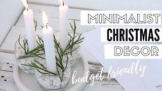 DIY Minimalist Christmas Decorations   Christmas 2017