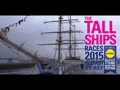 TALL SHIP GUAYAS Pollock dock Belfast 2015
