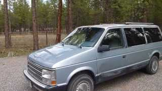 1989 Plymouth Grand Voyager SE review and start up