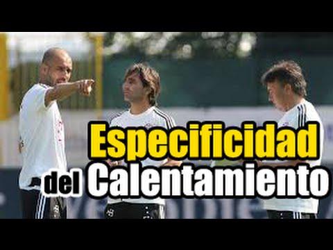 La especificidad del calentamiento por Lorenzo Buenaventura ( P.F. de staff de Guardiola)
