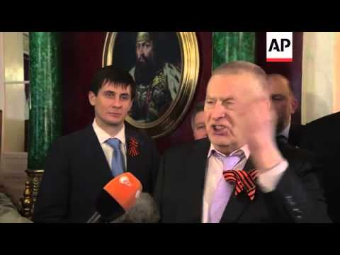 Russian parliament reaction to Putin speech on Crimea