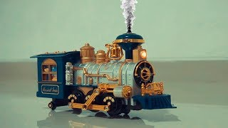 Playtime with classic toy train smoke ~ Lovomotive trains toys for kids and childrens