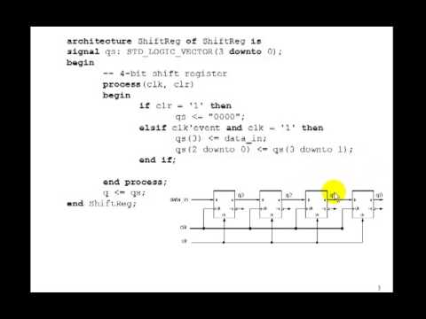 Lesson 72 - Example 45: Shift Register
