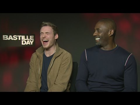 Bastille Day: Idris Elba and Richard Madden giggle about fart sounds and the word 'bollocks'