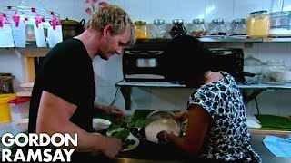 Gordon Ramsay Learns How To Make A Beef Rendang In Malaysia | Gordon's Great Escape