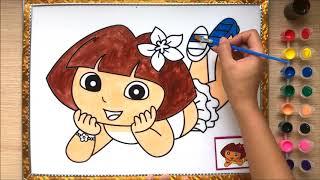 Đồ chơi TÔ MÀU TRANH cô bé hạt tiêu Chie xinh xắn Learn colors (Chim Xinh)