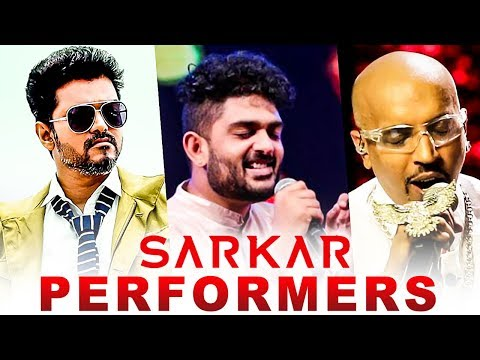 OFFICIAL : Sarkar Song Performers Details | Sid Sriram, Blaze Rapper | Sun TV Live
