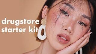 DRUGSTORE BACK TO SCHOOL MAKEUP STARTER KIT! + TUTORIAL | Karen Yeung