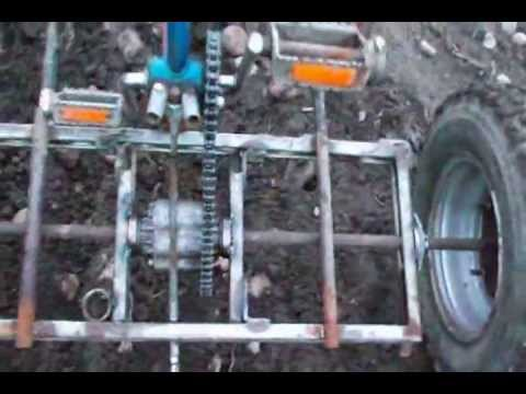 culticycle pedal power farming