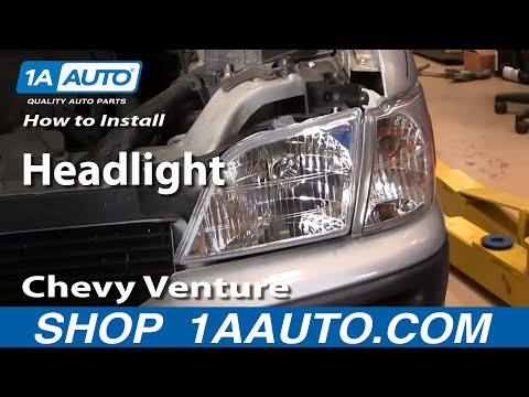 How To Install Replace Headlight Chevy Venture Pontiac Montana more 97-05 1AAuto.com