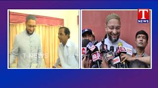 MP Asaduddin Owaisi Meet with CM KCR | Speaks to media after Meet  Telugu