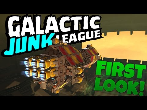 Galactic Junk League Alpha Gameplay - Robocraft In Space! (Galactic Junk League First Look)