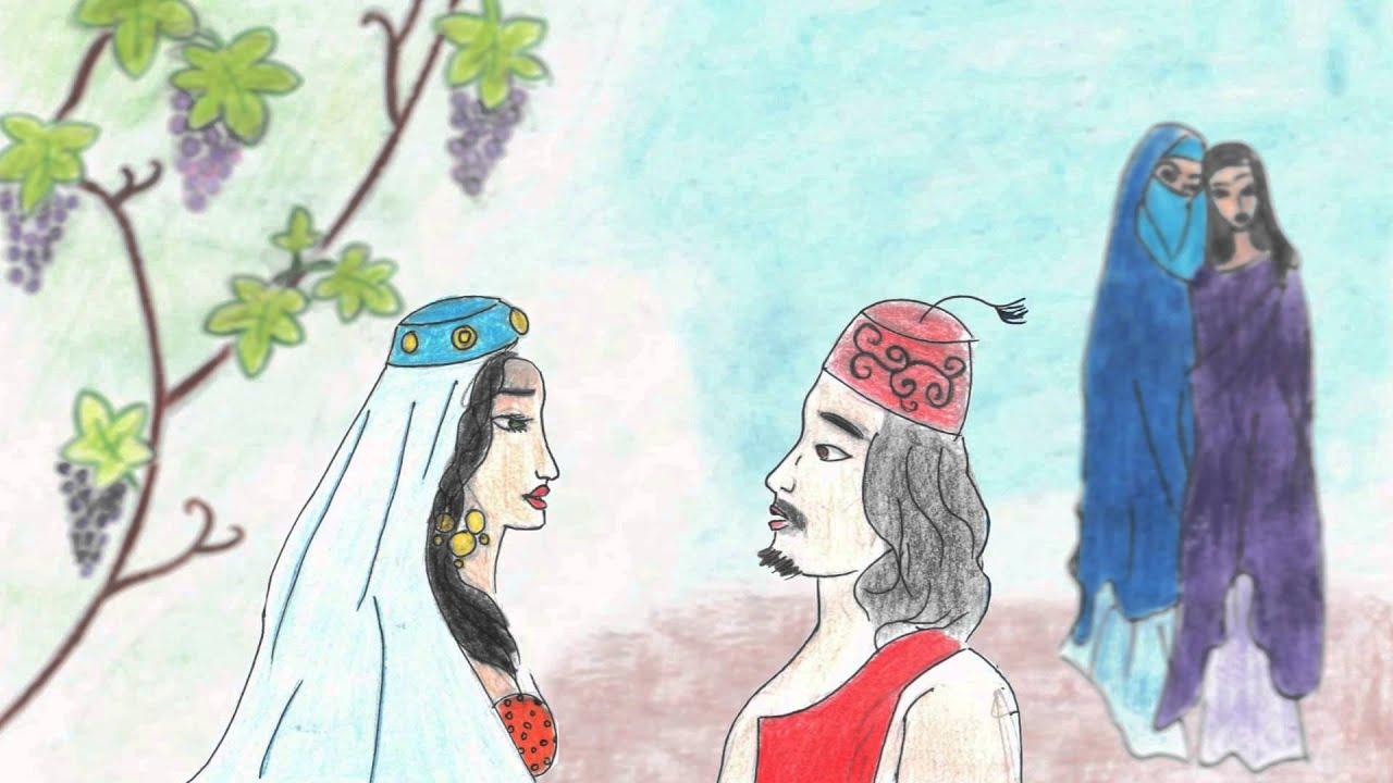 Как нарисовать рисунок к сказке ашик-кериб