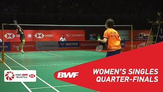 QF WS GOH Jin Wei MAS vs HE Bingjiao CHN 5 BWF 2019