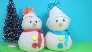 Christmas Craft for Kids | No Sew Sock Snowman