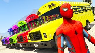 LEARN Numbers BUS w Fun BIG Cars Superheroes for Kids Spiderman Cartoon 3D Animation #1