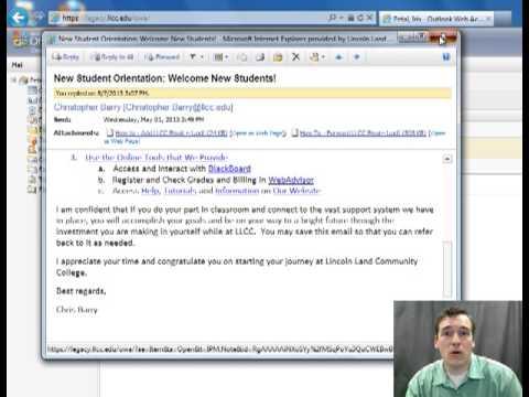 Llcc Email LLCC Email Tutorial
