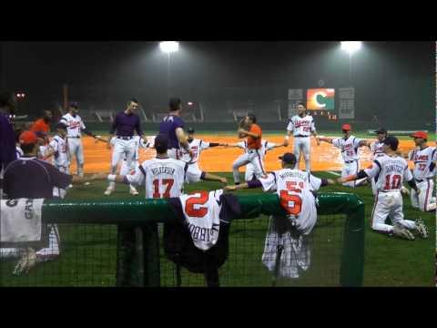 Clemson Baseball vs Davidson Rain Delay Cage Fight
