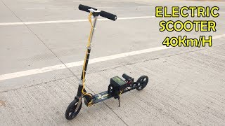 How To Make A Simple High Speed Electric Scooter At Home | 40 Km/H Speed Homemade | With Suspension