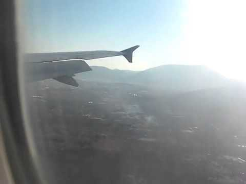 Landing in Athens Airport with Cyprus Airways(13 01 12)
