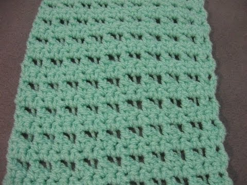 Crochet Scarf Pattern - Butterfly Stitch Scarf or Blanket - YouTube