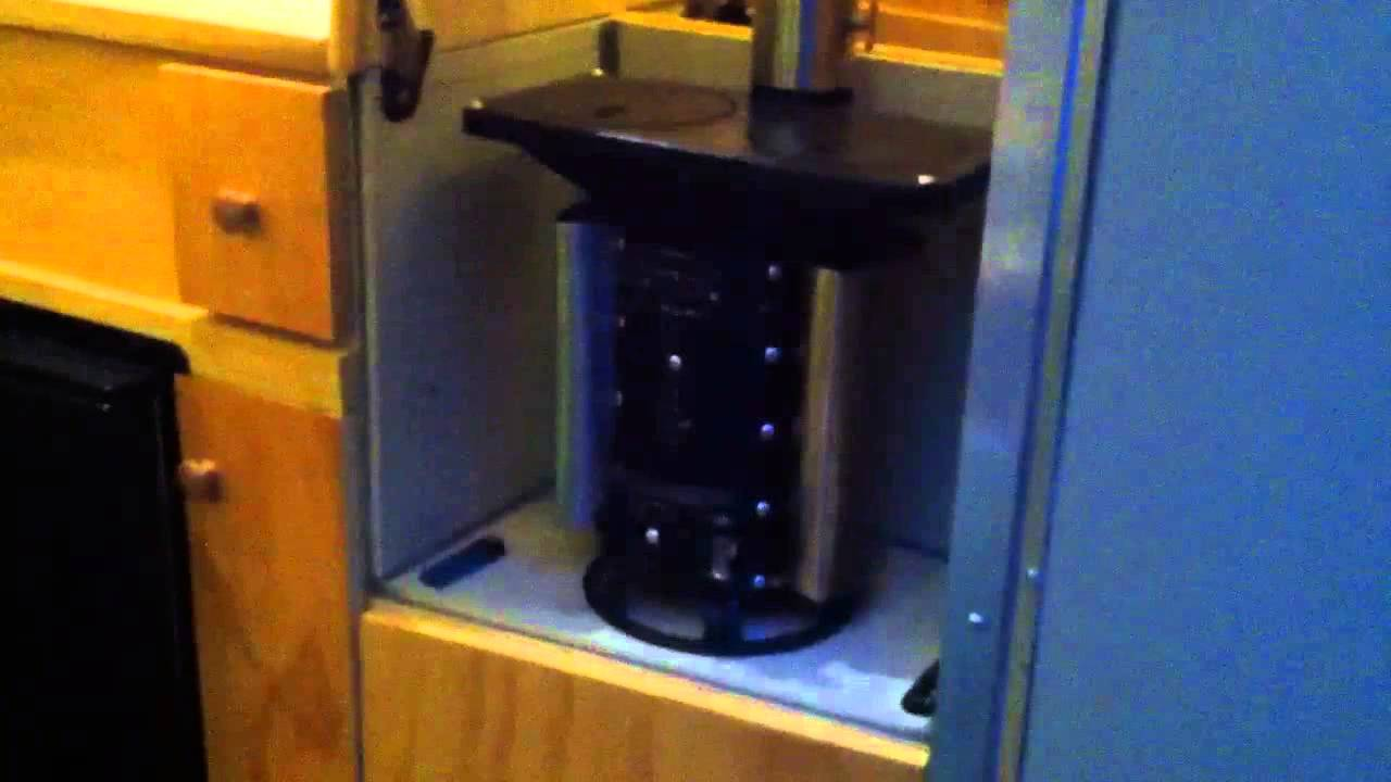 First Burn Tiny Woodstove In A Tiny Camper Youtube