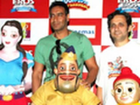 Ajay Devgn Promotes Toonpur Ka Superrhero At Big Cinemas