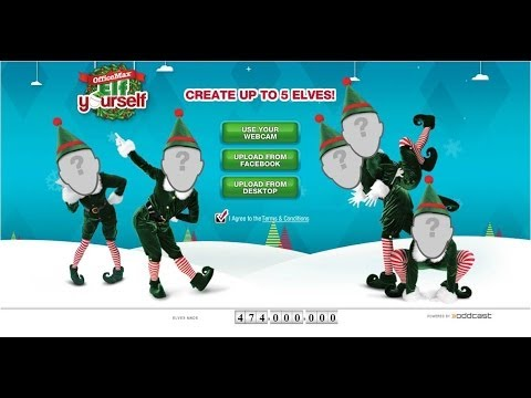 Collins Family : Christmas Trailer : Elf Yourself Dance