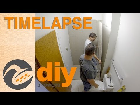 Timelapse - Two-day Onyx Remodel of Shower Pan and Panels Installation