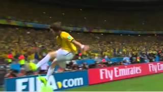 Brazil VS Colombia Goal Freekick David Luiz